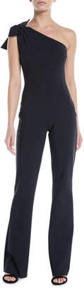 Chiara Boni Hannele 1-Shoulder Open-Back Jumpsuit