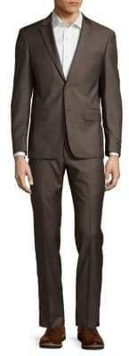 John Varvatos Plain Wool Suit