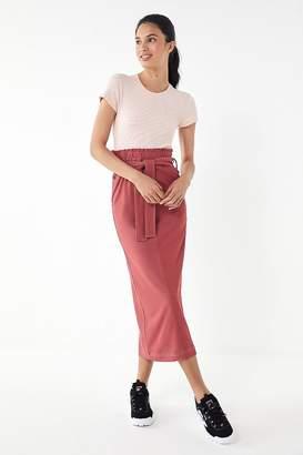 House Of Sunny Paperbag Belted Midi Skirt