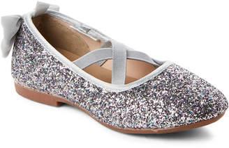 Osh Kosh B'gosh (Toddler Girls) Silver Vashti Glitter Ballet Flats