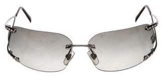 Versace Medusa Embellished Gradient Sunglasses