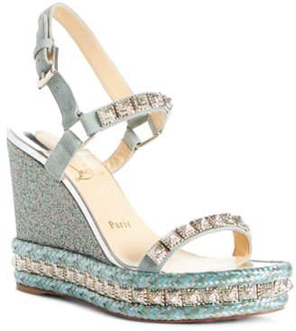 cc4bece7188 Christian Louboutin Blue Wedge Women's Sandals - ShopStyle