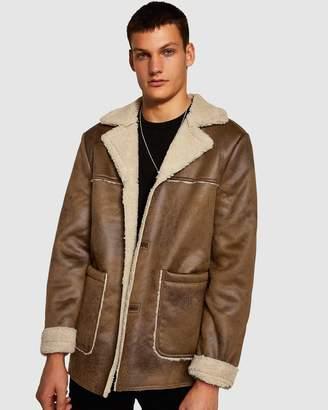 Topman Hurley Borg Jacket