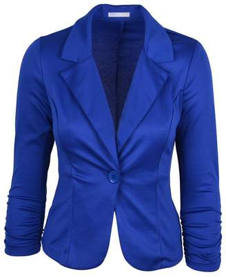 ODIAL(R) New Women Color Blazer Jacketuit Work Caual Baic Longleeve Candy Button ize
