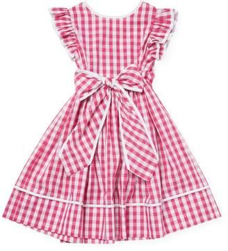 Il Gufo Little Girl's Gingham Flare Dress