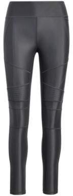 Ralph Lauren High-Gloss Moto Legging Gunemtal L
