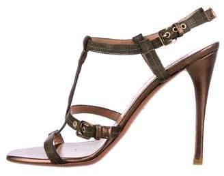 Alaia Chain T-strap Sandals