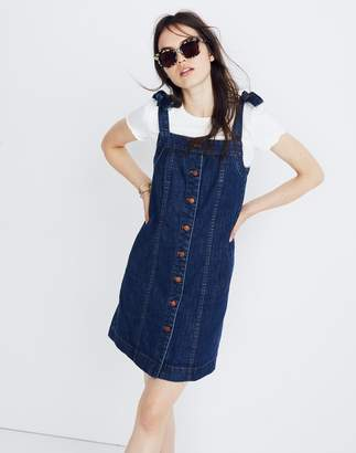 Madewell Denim Tie-Strap Mini Dress