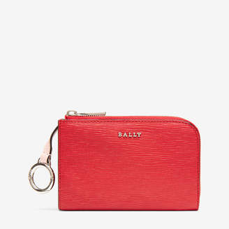 Bally Lauriel Red, Women's calf leather card holder in corvette