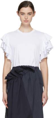 Stella McCartney White Ruffled Sleeves T-Shirt