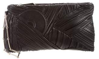 Reed Krakoff Pleated Leather Zip Clutch