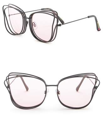 Betsey Johnson 3-D Cat Eye Sunglasses