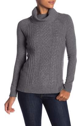 Sofia Cashmere Cashmere Cable Turtleneck Sweater