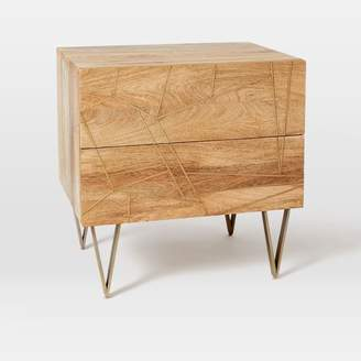 west elm Roar + Rabbit Brass Geo Inlay Nightstand