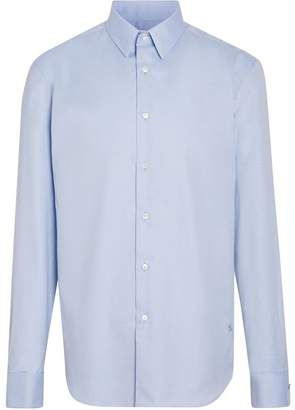 Burberry Modern Fit Double Cuff Cotton Shirt