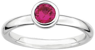JCPenney FINE JEWELRY Personally Stackable 5mm Round Lab-Created Ruby Ring