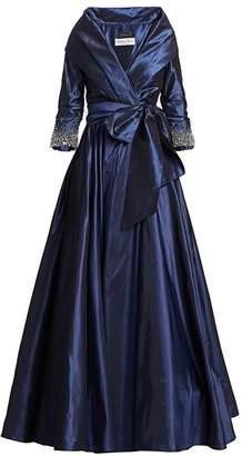 Catherine Regehr High Collar Embellished Cuff Ball Gown