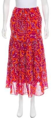 Diane von Furstenberg Floral Midi Skirt
