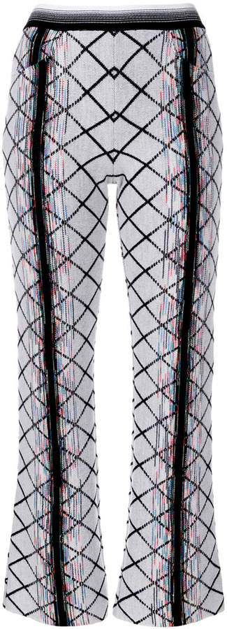 Missoni flared knitted trousers