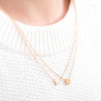 Charm & Chain Merci Maman Personalised Mini Charm Chain Necklace