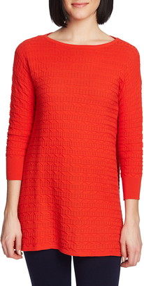 Chaus Texture Stitch Tunic Sweater