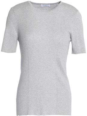 Equipment Davenport Ribbed Cotton Silk And Cashmere-Blend T-Shirt