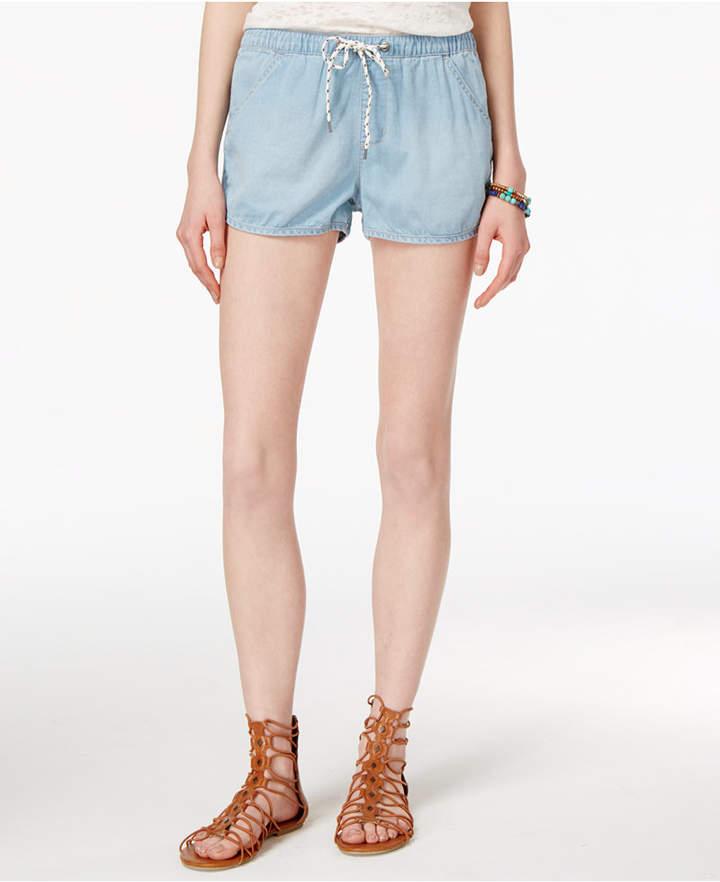 Roxy Juniors' Summerfeel Drawstring Denim Shorts