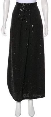 Neiman Marcus Sequin-Accented Maxi Skirt