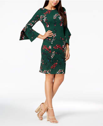 Taylor Floral-Print Bell-Sleeve Dress
