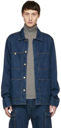 Acne Studios Blue Bla Konst Denim Albyr Natural Jacket