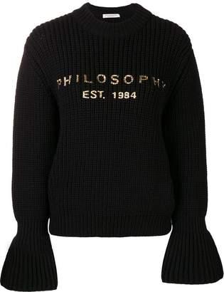 Philosophy di Lorenzo Serafini flared sleeve jumper