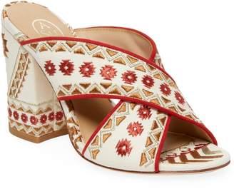 Ash Women's Embroidery Block-Heel Sandal
