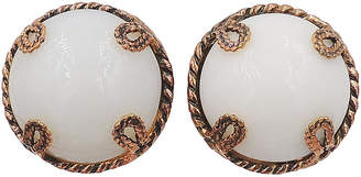 One Kings Lane Vintage Dominique Aurientis Cabochon Earrings - Carrie's Couture