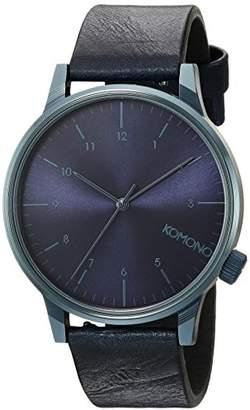 Komono 'Winston' Quartz Stainless Steel and Leather Dress Watch