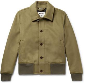 Acne Studios Ollys Brushed Wool-Blend Blouson Jacket