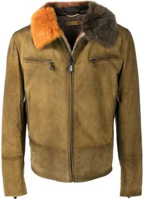 Bottega Veneta shearling zipped jacket
