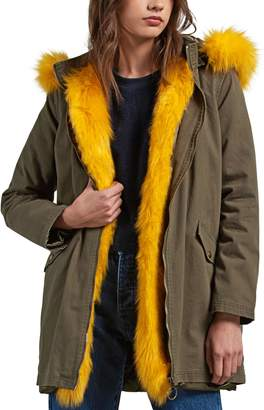 Volcom Pow Now Removable Faux Fur Trim Parka