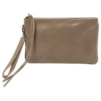 Lala Berlin Grey Leather Clutch Bag