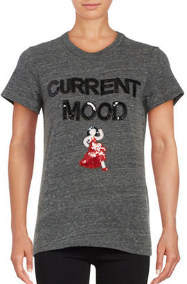 Bow And Drape Current Mood Sequined Tee $39 thestylecure.com
