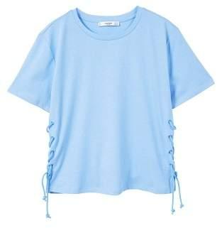 MANGO Cord detail t-shirt