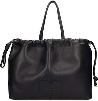 Givenchy Black Leather Tag Shopper Bag