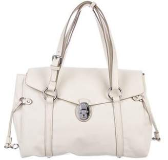 Tumi Leather Tote Bag silver Leather Tote Bag