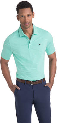 Vineyard Vines Heathered Wilson Stripe Sankaty Performance Polo