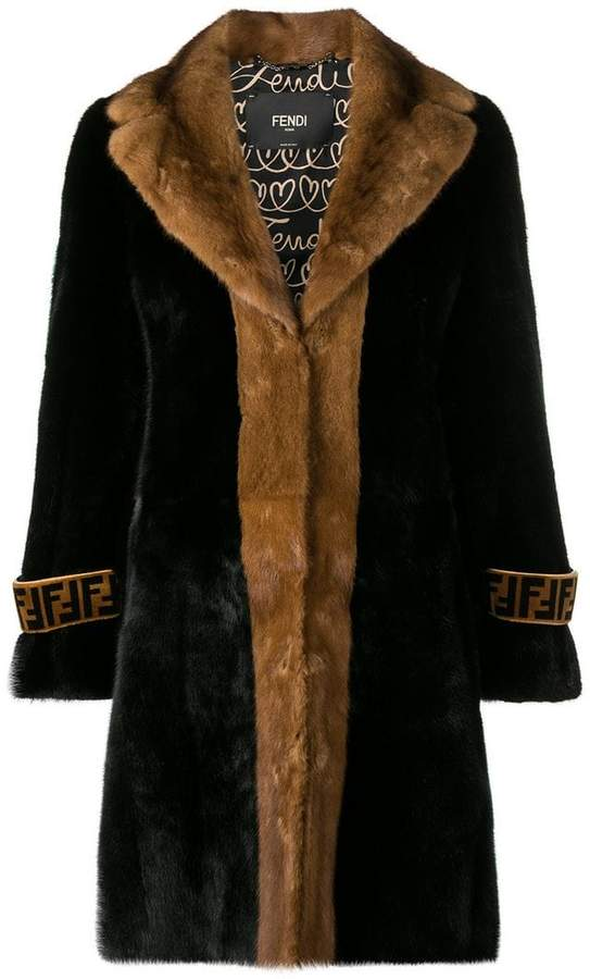 fur midi coat