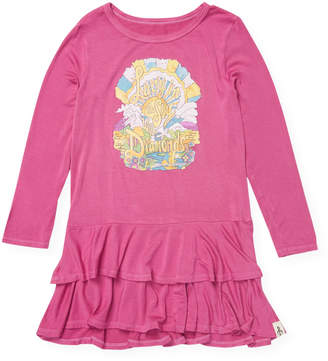 Rowdy Sprout Lucy in the Sky with Diamonds Rebel Dress - Pink, Size 3-6 month