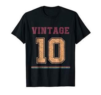 Vintage t shirt Born in 10th Birthday Gift Retro Shirt
