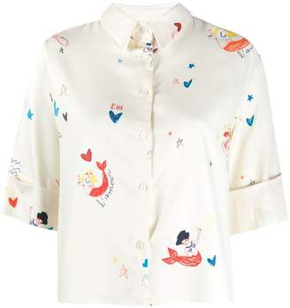 Parker Chinti & mermaid print blouse