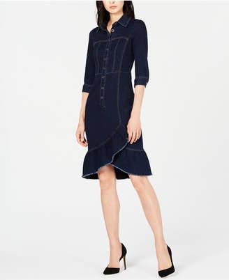 Nanette Lepore Ruffled Denim Dress