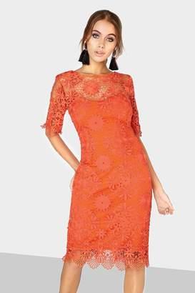 Paper Dolls Outlet Orange Lace Dress