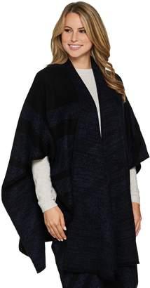 Lisa Rinna Collection Knit Jacquard Sweater Ruana